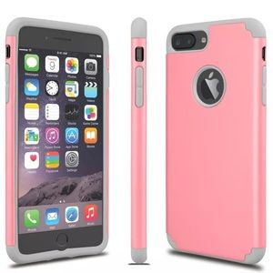 Pink and Gray Slim Rubber iPhone Case